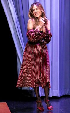 Sarah Jessica Parker from The Big Picture: Today's Hot Pics  The Divorce star looks demure during her visit to The Tonight Show Starring Jimmy Fallon.