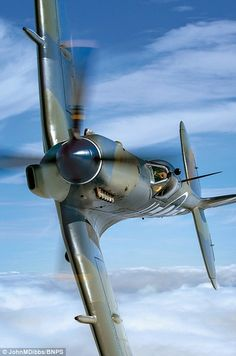 Fierce: Mk 3 Seafire PP972 (left), the Royal Navy version of the Spitfire built for Aircra...