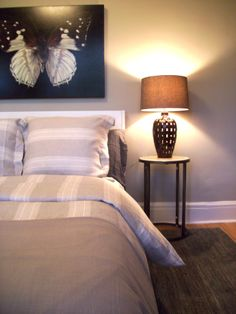 Main floor bedroom detail, Income Property HGTV: artwork by Heather Millar