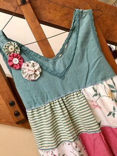 Patchwork womens dress / upcycled clothing / one of a kind /