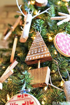 THE SCANDINAVIAN CHRISTMAS TREE ORNAMENTS By Ashley Hackshaw Christmas Tree ornament DIY  If you haven't seen all the Dream Trees yet, stop by The Glue String to see all 30 – they will blow you away!