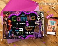 Coco Invitation Coco Movie Invitation Invitation Invitacion