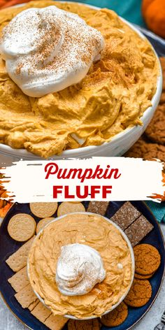 Pumpkin Fluff is an easy, no-bake Pumpkin Cool Whip Dessert Dip recipe, made with only five ingredients, and is perfect to serve for a Fall party or holiday dinner.