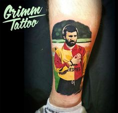 Realistic football player tattoo. #realisticart #realistictattoo #soccerplayer #soccertattoo #football #footballtattoo #championleague #Hagi #Galatasaray #UEFA #portrait #portraittattoo #stadium #tattooist #art #instaart #instagood #instatattoo #photooftheday #tattooed #inklife #Tattoos_Of_Instagram #istanbul #romania #turkey #goal www.grimmistanbul.com
