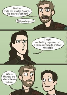 "That's for those who think Loki's a bad guy and a lousy king! This is the ""TRUE"" Loki! OH GOSH this is SO accurate!"