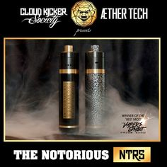 PREORDERS FOR The NOTORIOUS [#NTRS] Mod by: CK|S x Aether Tech  26650 Mechanical Device 30mm Outer Body Diameter 360 Series Brass Silver Coated Brass Bottom Pin Hybrid Brass Top Cap Coated in 2 finishes: Silver-Veined Powder Coat