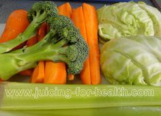 Carrot, Cabbage, Celery and Broccoli:  Healing Juice for Peptic Ulcer, Cabbage juice contains glutamic acid that is highly beneficial for the health of your intestinal tract. People suffering from stomach/peptic ulcer or inflammation has found cabbage juice to be very healing.
