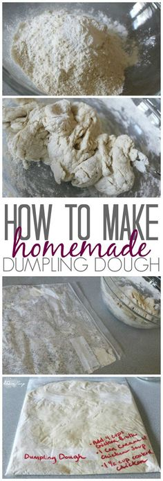 Homemade Chicken and Dumplings Recipe & How to Make Homemade Dumplings with Made from Scratch Dough! Homemade Chicken and Dumplings Recipe & How to Make Homemade Dumplings with Made from Scratch Dough! Dumpling Dough, Dumpling Recipe, Dumplings From Scratch Recipe, Pain Bagel, Homemade Chicken And Dumplings, Chicken Dumplings, How To Cook Dumplings, Crockpot Chicken And Dumplings, Gastronomia