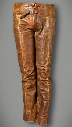 These brown leather pants were worn by Jim Morrison nearly every day for the better part of two years. They've been photographed literally thousands of times and are one of the great treasures of the Hard Rock collection.