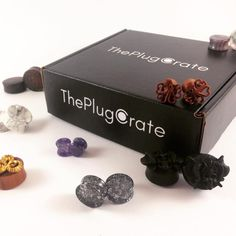 premiere subscription box for plugs and tunnels. Holiday gifting now available on our site! The premiere subscription box for plugs and tunnels. Holiday gifting now available on our site! Gauges Piercing, Gauges Plugs, Body Piercings, Ear Gauge Plugs, Tongue Piercings, Ear Tunnels, Tunnels And Plugs, Ear Jewelry, Body Jewelry
