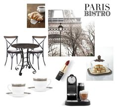 """Parisian Bistro"" by eiram-schultz on Polyvore featuring interior, interiors, interior design, home, home decor, interior decorating, GG Collection, L'Oréal Paris, Nespresso and Lenox Interior Decorating, Interior Design, Nespresso, Parisian, Interiors, Polyvore, Collection, Home Decor, Women"