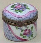 Floral Fish Net Pot Box Limoges Box