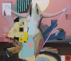 """Saatchi Arte Artista: Marck Fink; Acrílico Pintura 2011 """"VENDIDO tratando de bien verso los Límites de mi vida II"""""""