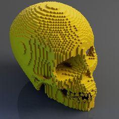 3d pixel skull - Google Search