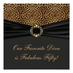 Leopard Diva Womans Fabulous 50th Birthday Party Custom Invitations online after you search a lot for where to buyDeals Leopard Diva Womans Fabulous 50th Birthday Party Custom Invitations lowest price Fast Shipping and save your money Now!!...