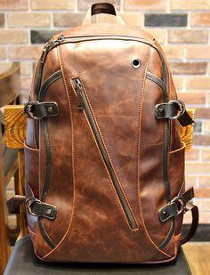 Young en cuir sac à dos hommes sac à dos en cuir par tianmimi127