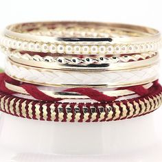 Fashion Korean Version Temperament Pearl Multi Designed Level Alloy and Cotton Rope Charming Red Woven Bracelets for Girls