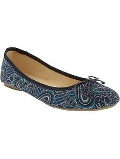 ON Womens Printed Ballet Flats