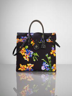 Ralph Lauren Floral Canvas Ricky Tote ($1100.00) Love le floral, Wear le floral, Tote le floral!
