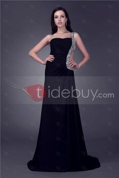 Clearance Concise A-line One-shoulder Floor Length Veleria's Evening/Party Dress