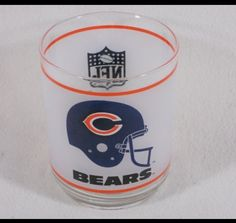 CHICAGO BEARS NFL Football Collectors Item (Mobil) frosted glass in GinasOneStopShops Garage Sale in Glendale Heights , IL for $5.00. brThis is a great collectible for any Chicago Bears fan!   CHICAGO BEARS NFL Collectible (Mobil) frosted drinking cup / glass  This is an old school (Mobil) NFL Chicago Bears glass that would be perfect for any Chicago Bears fan, NFL collector, a sports bar, or even an oil advertising collector to have as part of their coll ...