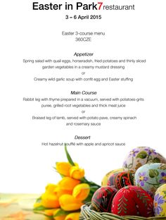Are you going to prague for #easter? Come to taste our Easter menu! :)