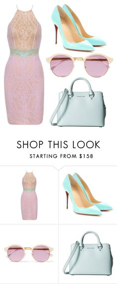 Untitled #158 by fashionaly-inspired on Polyvore featuring Posh Girl, Christian Louboutin, MICHAEL Michael Kors and Sheriff&Cherry
