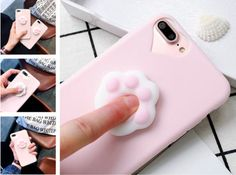 For Apple iPhone 6s Squishy Cartoon Cat Paw Case