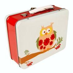 Blafre koffertje 'vintage uil'
