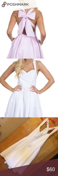 WHITE Lauren James Livingston Seersucker Dress (L) ADORABLE Lauren James Seersucker Dress. This dress has pockets! White and Size Large. No imperfections! I wore this for two wedding festivities and probably won't wear it again. Don't miss this deal! It's SO cute! Feel free to make an offer :) Lauren James Dresses