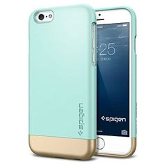 TOPSELLER! iPhone 6 Case, Spigen® [Safe Slide] iPhone 6 (4.7) Case Protective [Style Armor] [Mint] SOFT-Interior Scratch Protection Metallic Finished Base with Dual Layer Protection Slim Trendy Hard Case for iPhone 6 (4.7) (2014) - Mint (SGP11046) $13.99
