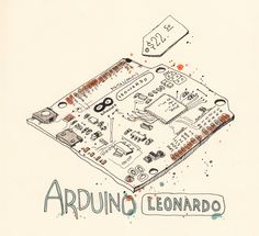 Arduino Leonardo Arduino, Bullet Journal, Hardware, Cards, Map, Computer Hardware