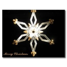 Merry Christmas Snowflake In The Sun Postcards For Sale $1.03 #snowflakes#merry christmas#postcard