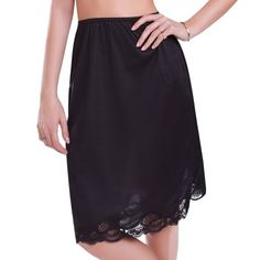 Ilusion Women's Lace Half Slip With Slit
