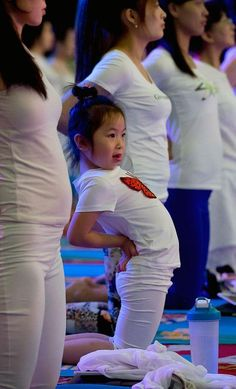 International Yoga Day celebrated in the Changping District, on the outskirts of Beijing, China