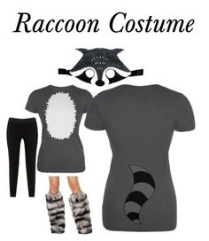 My completed diy raccoon costume project i used felt interfacing raccoon costume by oldglory on polyvore featuring junarose solutioingenieria Choice Image