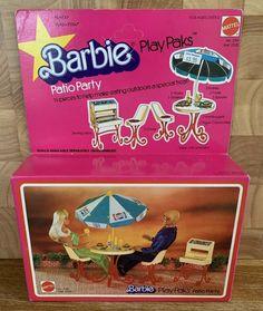 BARBIE Doll Vintage Play Paks Patio Party Pepsi Furniture 2316 Mattel 1978 Rare! | eBay Mattel Barbie, Barbie Dolls, Pepsi, Vintage Barbie, Pop Tarts, Picnic, Patio, Treats, Play