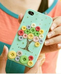Button Tree diy iphone 4 case iphone case