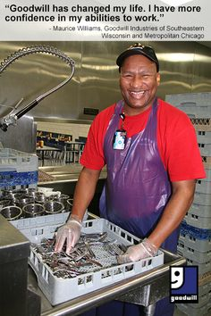 """Maurice Williams reflects on his experience at @AmazingGoodwill : """"Goodwill has changed my life. I have more confidence in my abilities to work."""""""