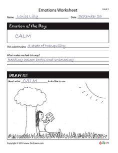 understanding emotions worksheet