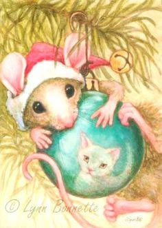 New children illustration cat beatrix potter ideas Noel Christmas, Christmas Animals, Vintage Christmas Cards, Christmas Cats, Christmas Pictures, Christmas Bulbs, Xmas, Maus Illustration, Cute Mouse