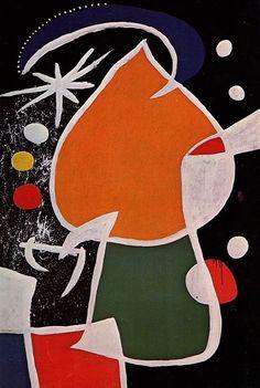 Joan Miró - Woman in the Night, 1974