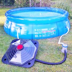 Solar Pod & above ground pool... The Solar Pod heater the water & the small pump delivers it to the pool.  Neat & simple...