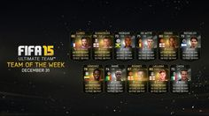 FIFA Ultimate Team -  TOTW 16 https://www.easports.com/fifa/news/2014/fifa-15-ultimate-team-team-of-the-week-dec-31  Buy cheapest FIFA 15 Coins - www.fifa-coins.com.