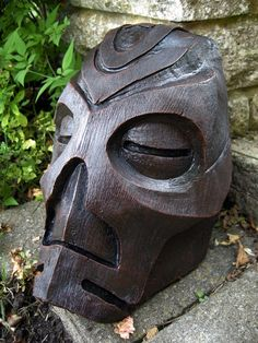 Wooden Priest mask - skyrim  https://www.facebook.com/NetherDesigns  #NetherDesigns #armor #rubber #cosplay #costume #Larp #leather #skyrim #dovahkiin #dragon priest