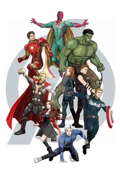 "silentbrownsugar46: "" Avengers Assemble! by Andias Rakhman """