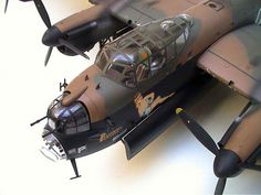 Avro Lancaster by Franck Oudin (Tamiya Ship In Bottle, Bomber Plane, Lancaster Bomber, Modeling Techniques, Model Hobbies, Train Layouts, Model Airplanes, Model Building, Tamiya