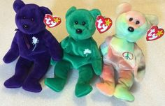 Ty Beanie Babies RARE Lot 1997 Collection Princess Erin Peace Mint Free SHIP   eBay Peace Beanie Baby, Original Beanie Babies, Ty Beanie, Smurfs, Dinosaur Stuffed Animal, Mint, Ship, The Originals, Princess