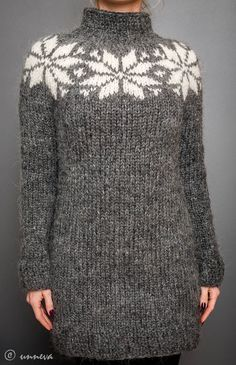 Icelandic Lopi Sweater, via Etsy. Looks like a nice top down project...