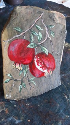 My art Maria Kolokouri Ceramic Painting, Painting & Drawing, The Art Sherpa, Golden Apple, Clay Mugs, Concrete Crafts, Stone Crafts, Fruit Art, Botanical Art